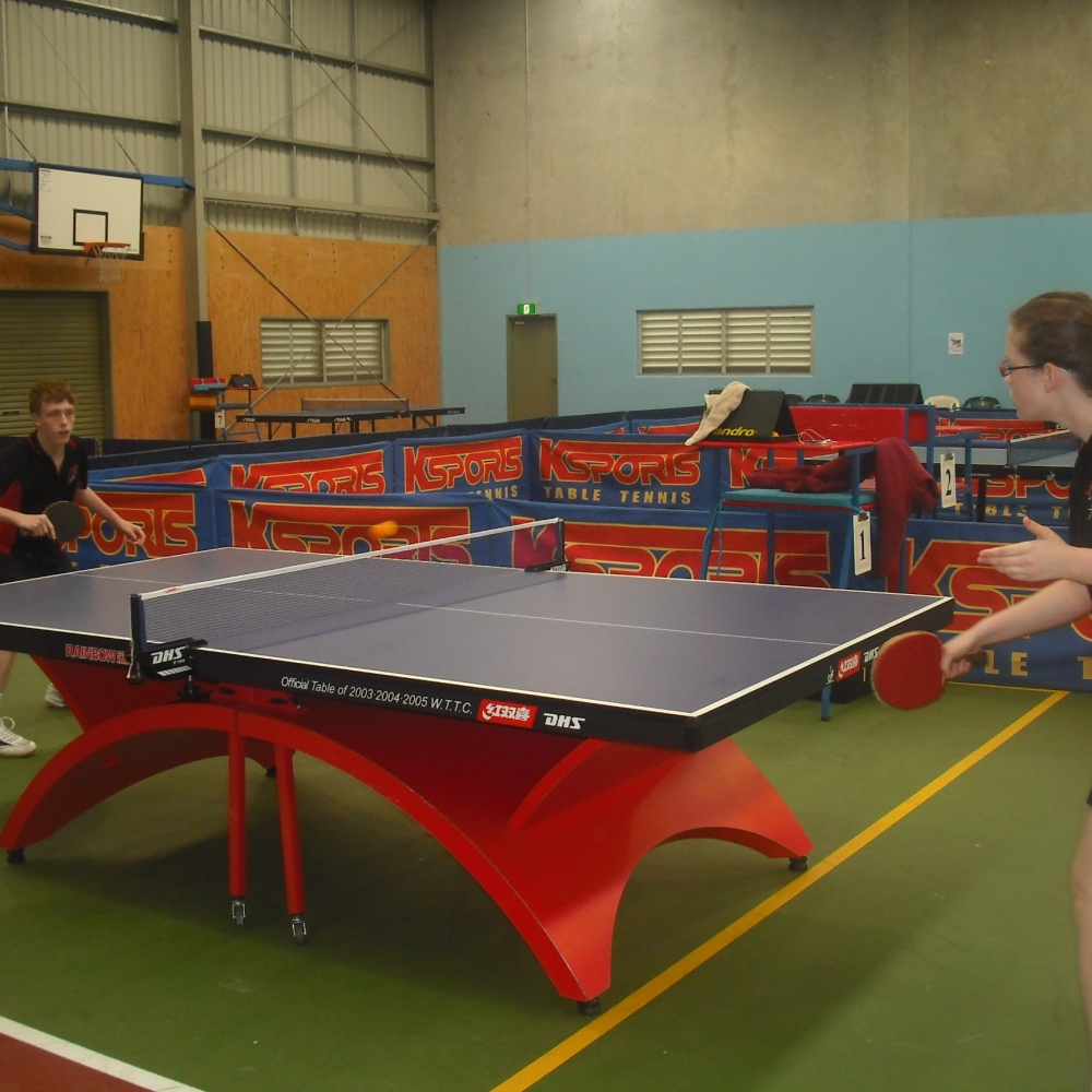 kids playing table tennis