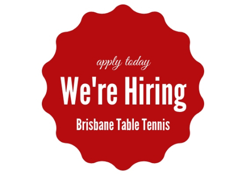 we are hiring - table tennis coach