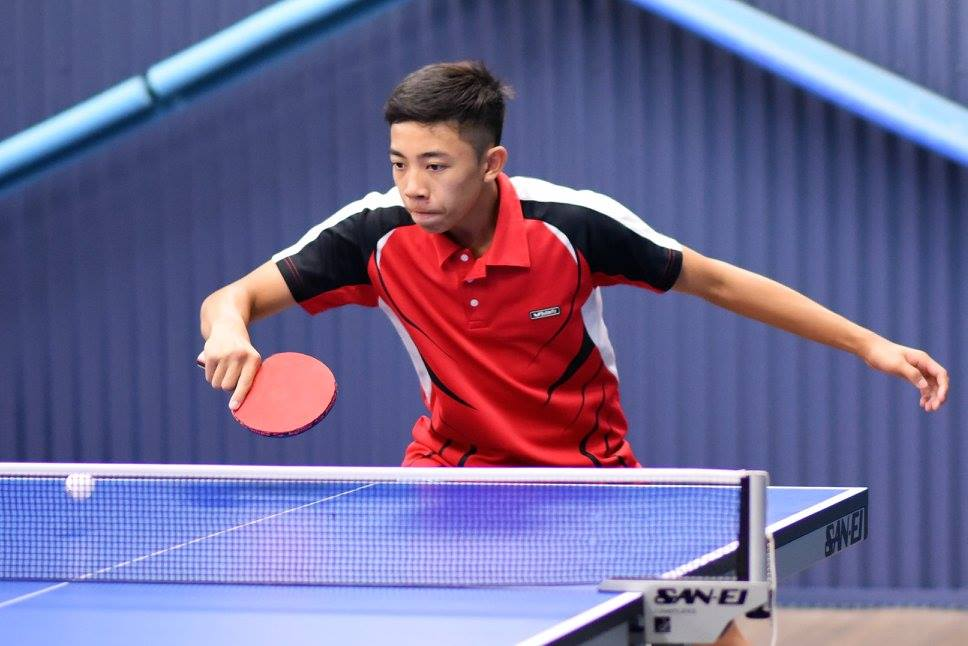 junior table tennis player