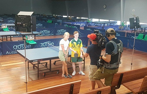 TV Show brain buzz features Table Tennis