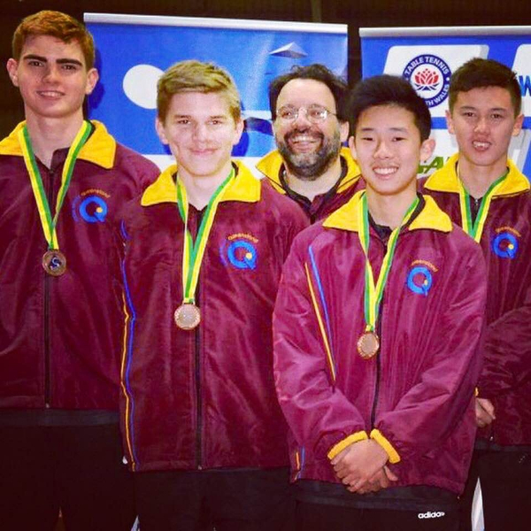 under 18 boys team bronze